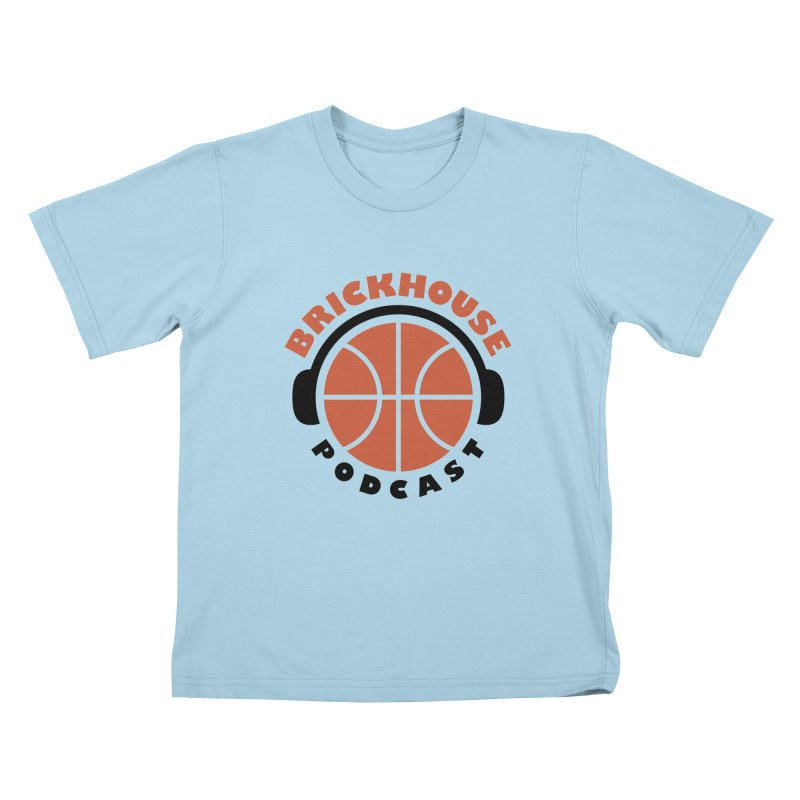 Brickhouse Podcast Logo Apparel (Flat) Orange/Black Kids T-Shirt by Brickhouse Podcast Shop