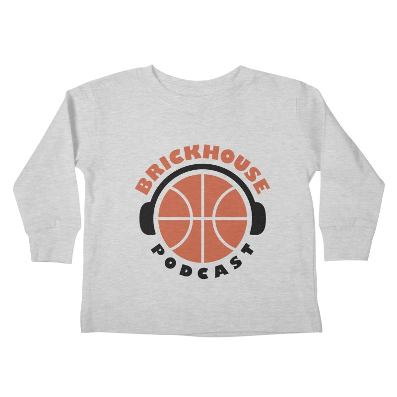 Brickhouse Podcast Logo Apparel (Flat) Orange/Black Kids Toddler Longsleeve T-Shirt by Brickhouse Podcast Shop