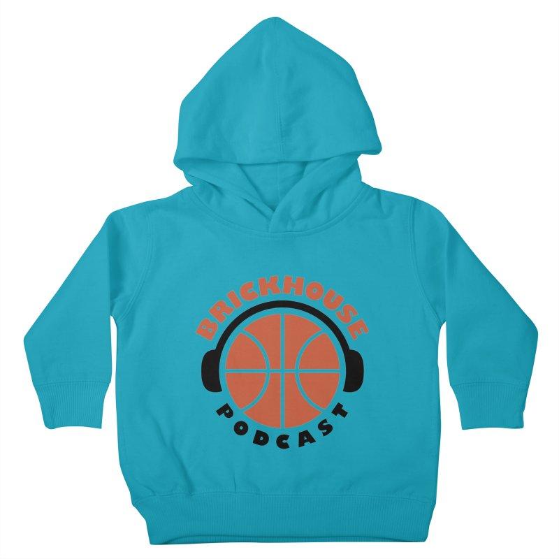 Brickhouse Podcast Logo Apparel (Flat) Orange/Black Kids Toddler Pullover Hoody by Brickhouse Podcast Shop