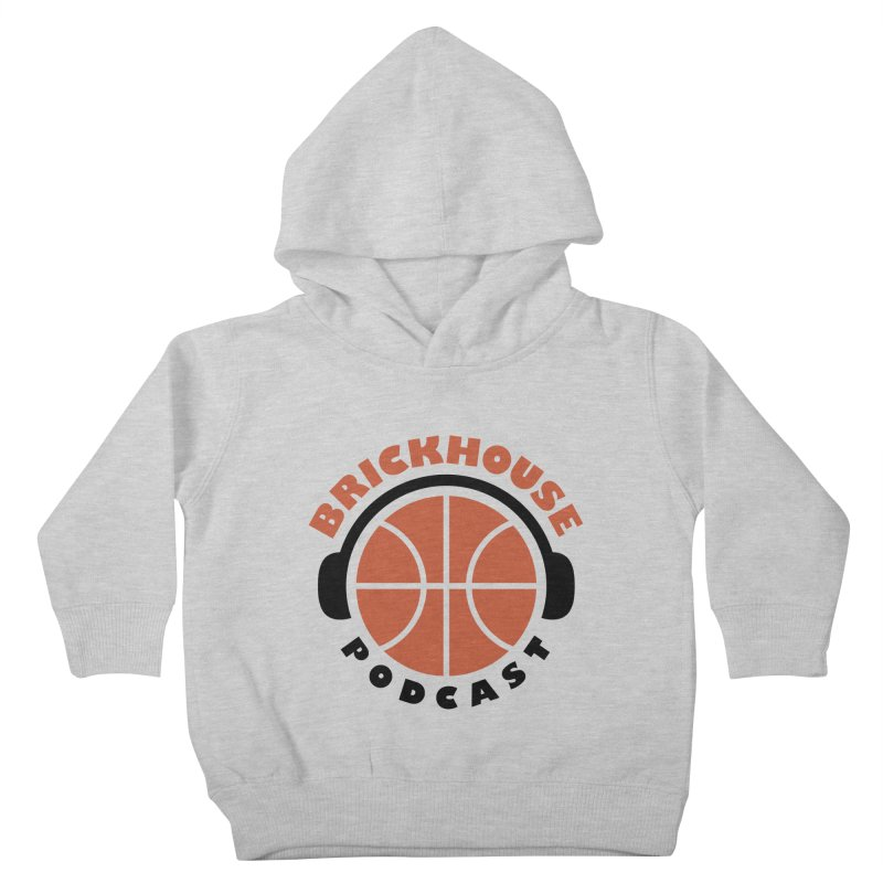 Brickhouse Podcast Logo Apparel (Flat) Orange/Black Kids Toddler Pullover Hoody by Brickhouse Podcast Shop