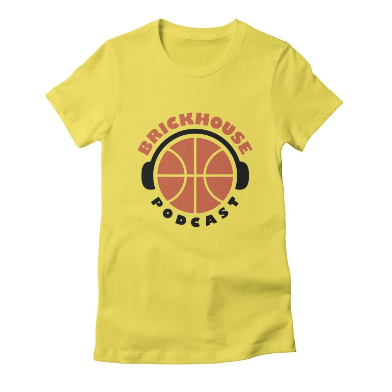 Brickhouse Podcast Logo Apparel (Flat) Orange/Black Women's T-Shirt by Brickhouse Podcast Shop