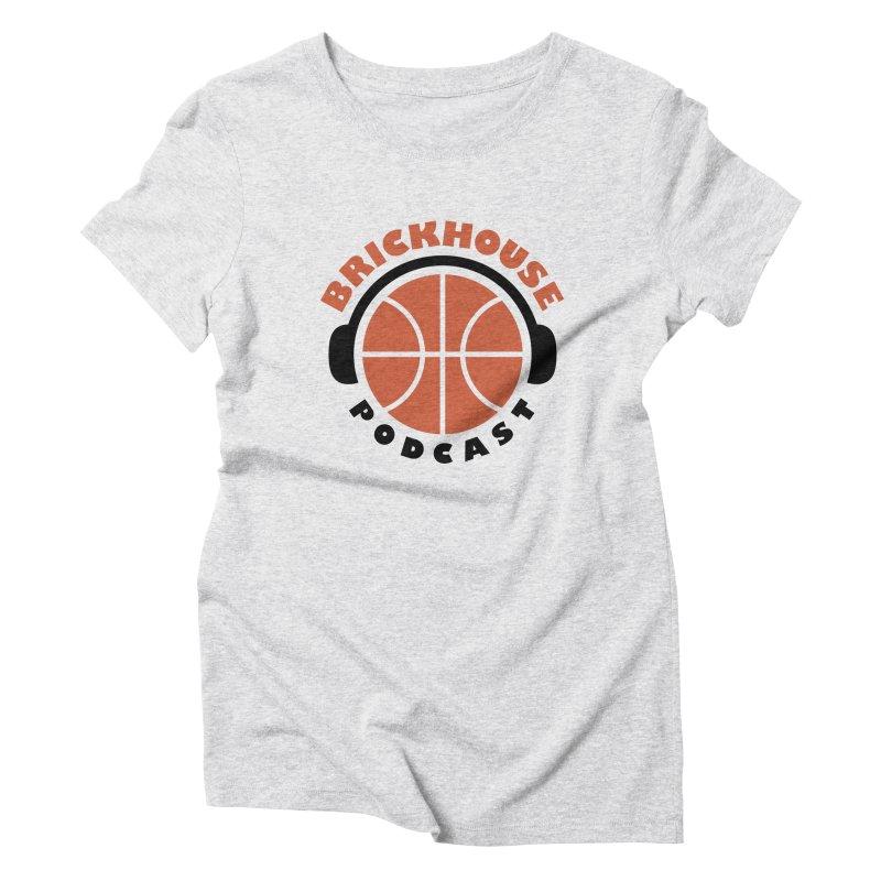 Brickhouse Podcast Logo Apparel (Flat) Orange/Black Women's Triblend T-Shirt by Brickhouse Podcast Shop