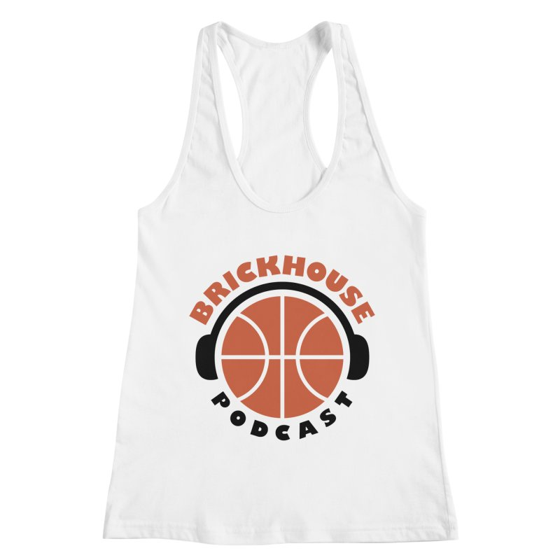 Brickhouse Podcast Logo Apparel (Flat) Orange/Black Women's Racerback Tank by Brickhouse Podcast Shop