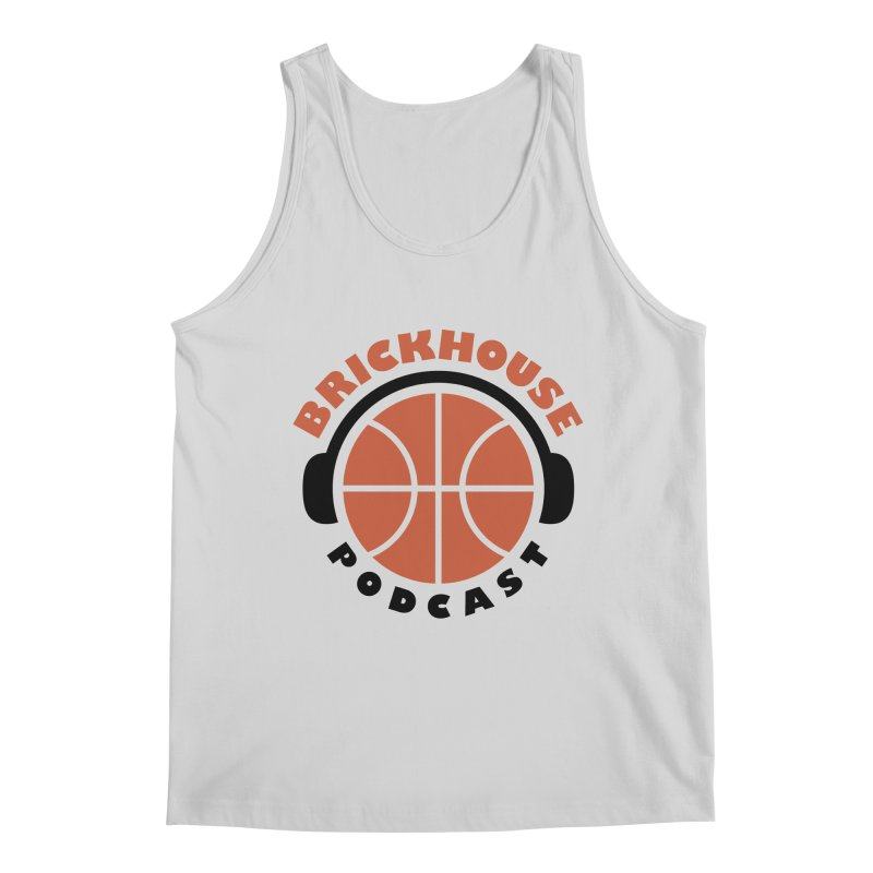 Brickhouse Podcast Logo Apparel (Flat) Orange/Black Men's Regular Tank by Brickhouse Podcast Shop