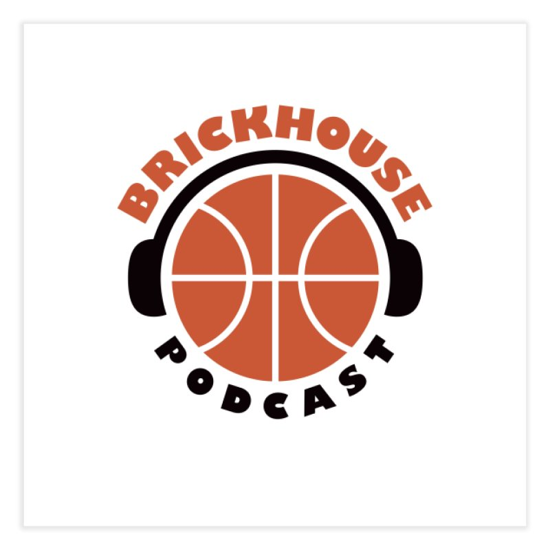 Brickhouse Podcast Logo Wall Art (Flat) Orange/Black Home Fine Art Print by Brickhouse Podcast Shop