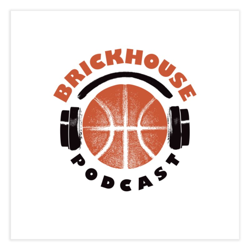 Brickhouse Podcast Logo Wall Art (Pumped) Orange/Black Home Fine Art Print by Brickhouse Podcast Shop