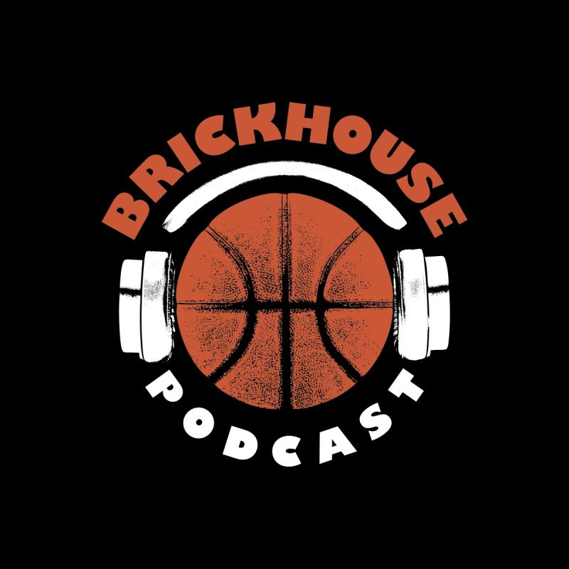 Brickhouse Podcast Logo Apparel (Pumped) Orange/White Men's T-Shirt by Brickhouse Podcast Shop