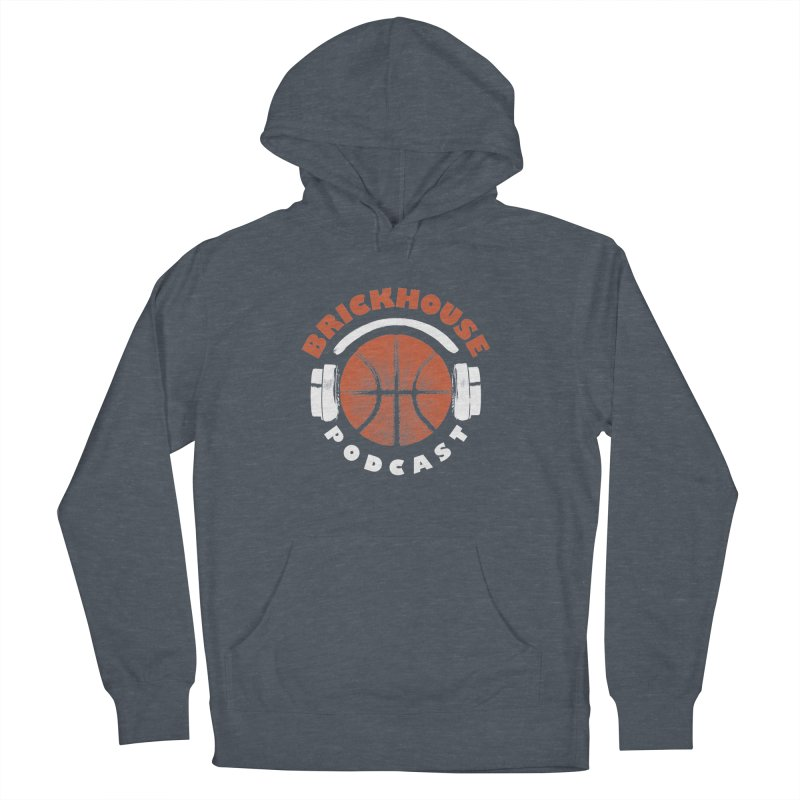 Brickhouse Podcast Logo Apparel (Pumped) Orange/White Men's French Terry Pullover Hoody by Brickhouse Podcast Shop