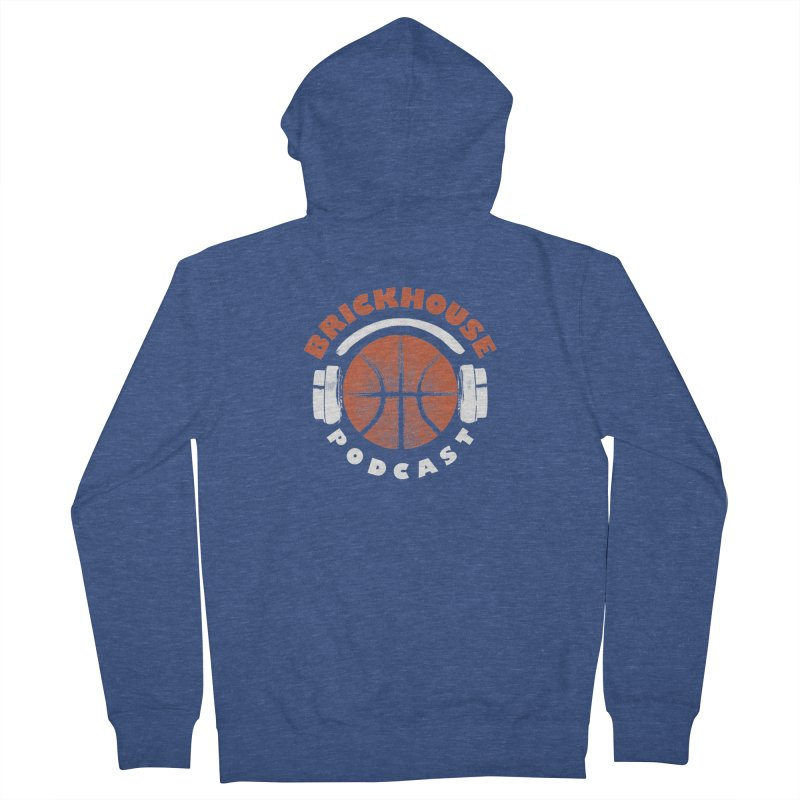 Brickhouse Podcast Logo Apparel (Pumped) Orange/White Women's French Terry Zip-Up Hoody by Brickhouse Podcast Shop