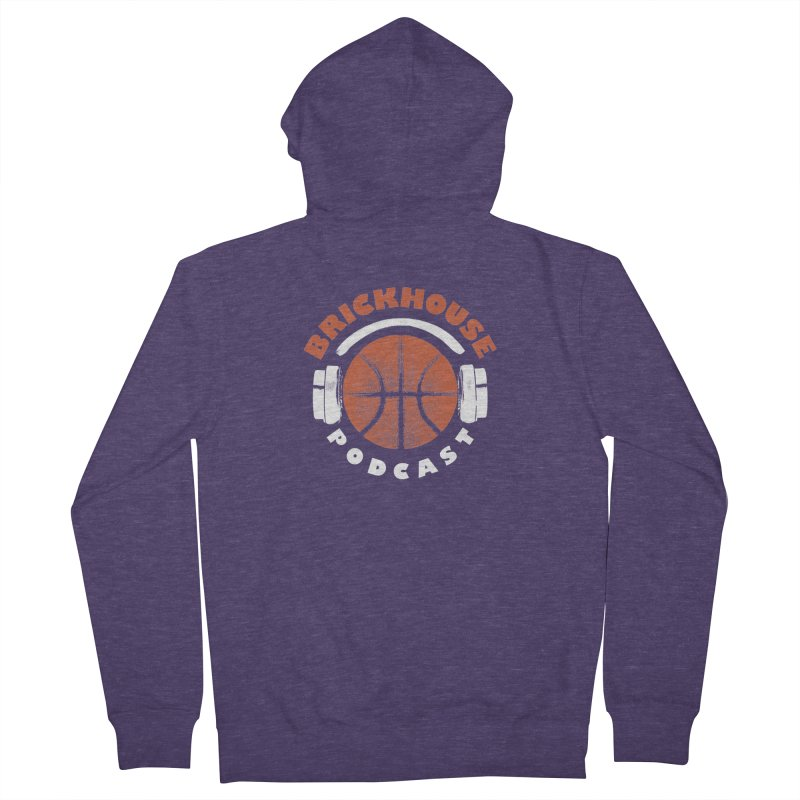 Brickhouse Podcast Logo Apparel (Pumped) Orange/White Men's French Terry Zip-Up Hoody by Brickhouse Podcast Shop