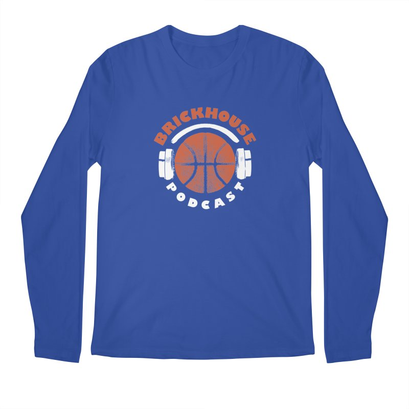 Brickhouse Podcast Logo Apparel (Pumped) Orange/White Men's Regular Longsleeve T-Shirt by Brickhouse Podcast Shop