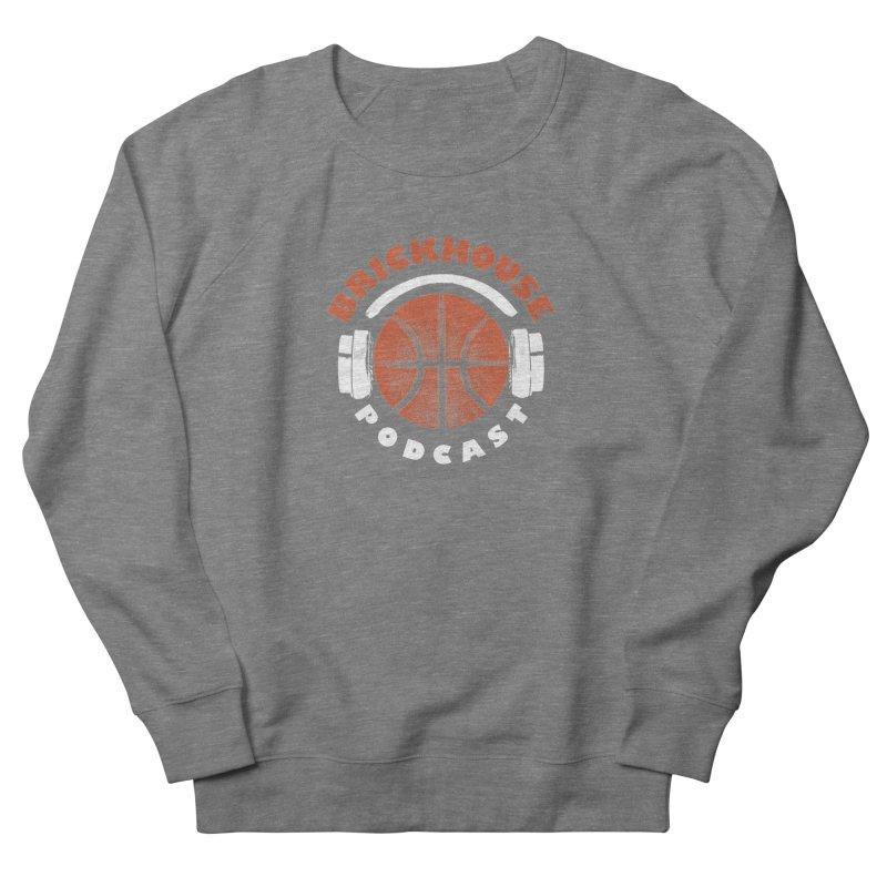 Brickhouse Podcast Logo Apparel (Pumped) Orange/White Women's French Terry Sweatshirt by Brickhouse Podcast Shop