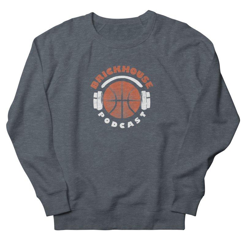 Brickhouse Podcast Logo Apparel (Pumped) Orange/White Men's French Terry Sweatshirt by Brickhouse Podcast Shop