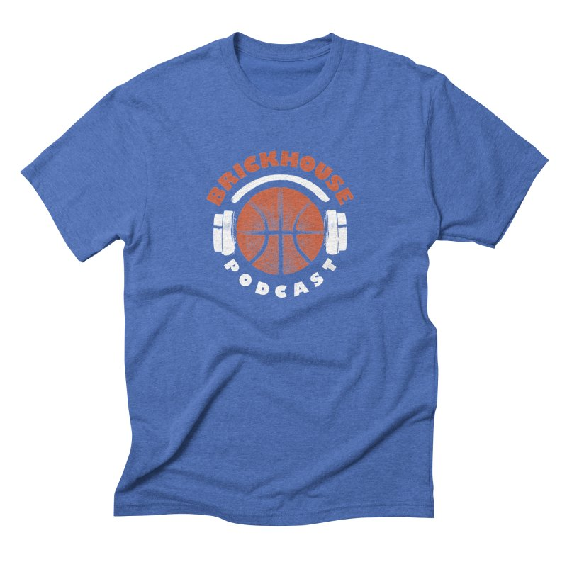 Brickhouse Podcast Logo Apparel (Pumped) Orange/White Men's T-Shirt by Brickhouse Podcast Shop