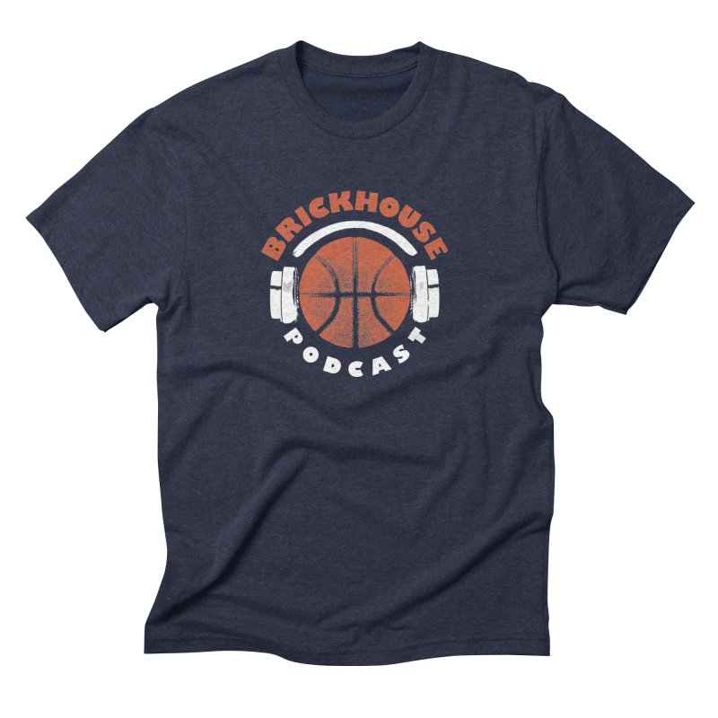 Brickhouse Podcast Logo Apparel (Pumped) Orange/White Men's Triblend T-Shirt by Brickhouse Podcast Shop