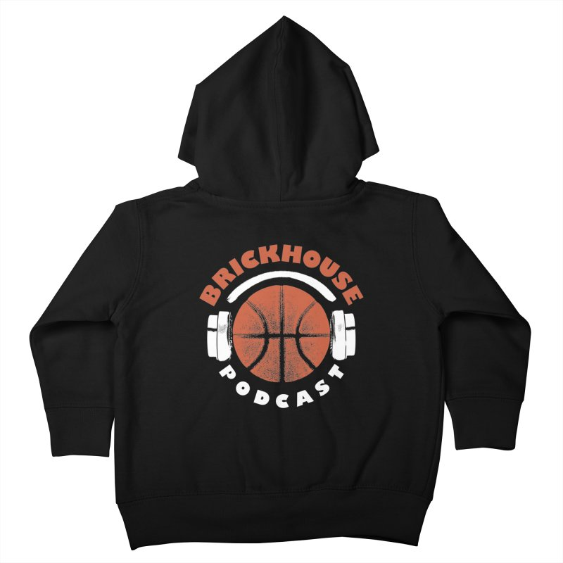 Brickhouse Podcast Logo Apparel (Pumped) Orange/White Kids Toddler Zip-Up Hoody by Brickhouse Podcast Shop