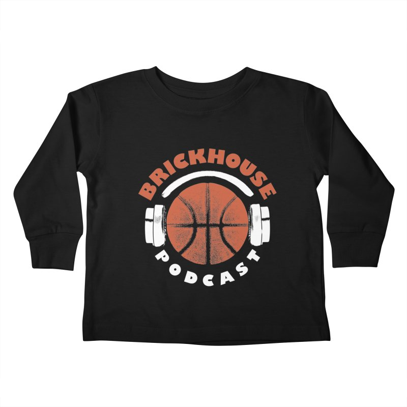 Brickhouse Podcast Logo Apparel (Pumped) Orange/White Kids Toddler Longsleeve T-Shirt by Brickhouse Podcast Shop