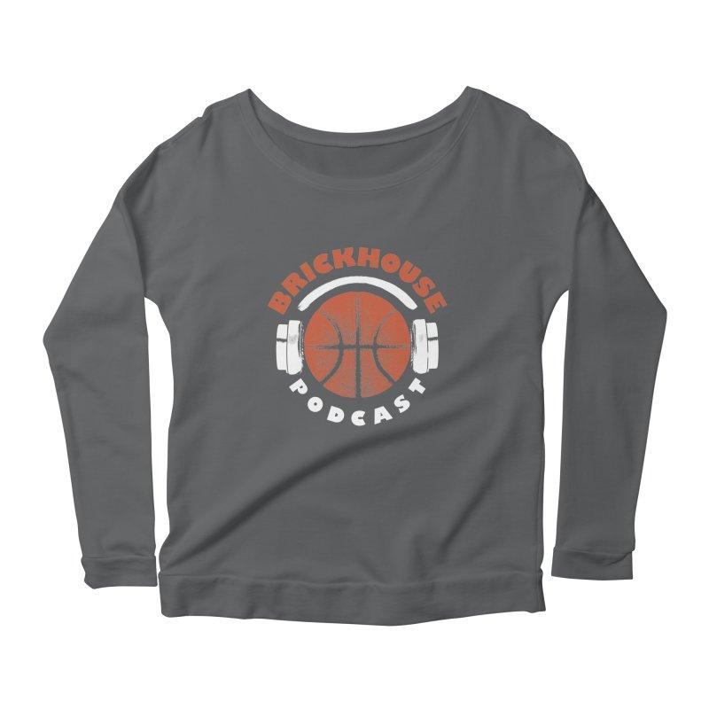 Brickhouse Podcast Logo Apparel (Pumped) Orange/White Women's Longsleeve T-Shirt by Brickhouse Podcast Shop