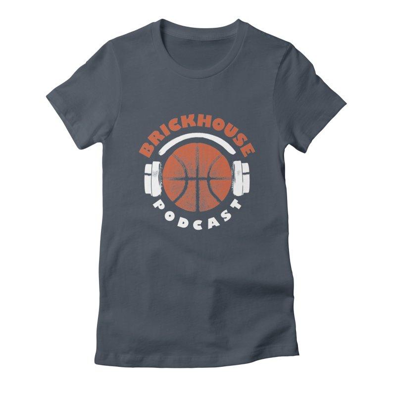 Brickhouse Podcast Logo Apparel (Pumped) Orange/White Women's T-Shirt by Brickhouse Podcast Shop