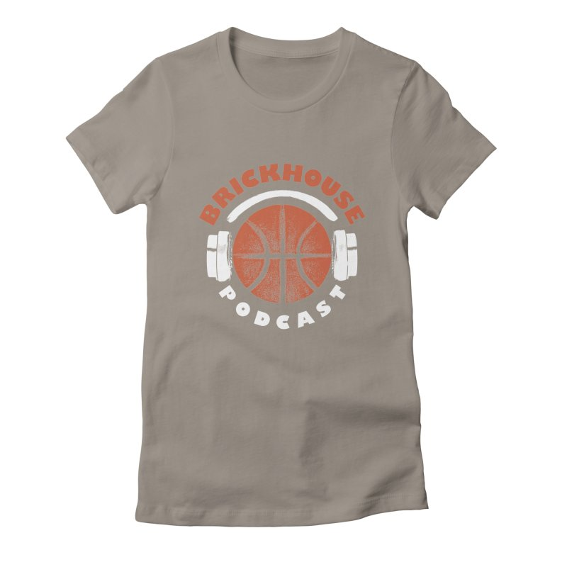 Brickhouse Podcast Logo Apparel (Pumped) Orange/White Women's Fitted T-Shirt by Brickhouse Podcast Shop