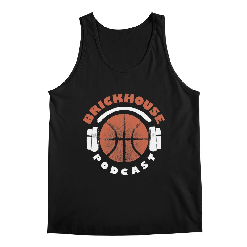 Brickhouse Podcast Logo Apparel (Pumped) Orange/White Men's Regular Tank by Brickhouse Podcast Shop