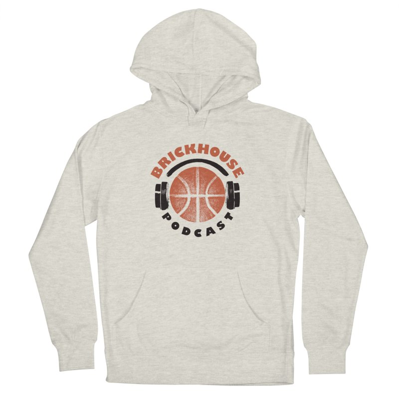 Brickhouse Podcast Logo Apparel (Pumped) Orange/Black Women's French Terry Pullover Hoody by Brickhouse Podcast Shop