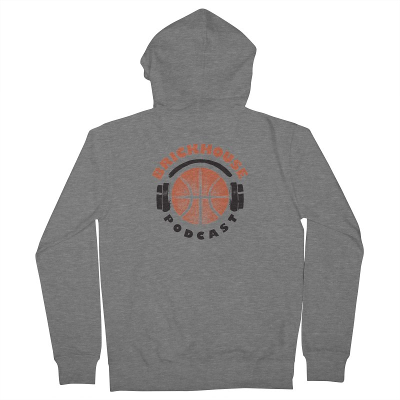 Brickhouse Podcast Logo Apparel (Pumped) Orange/Black Women's French Terry Zip-Up Hoody by Brickhouse Podcast Shop