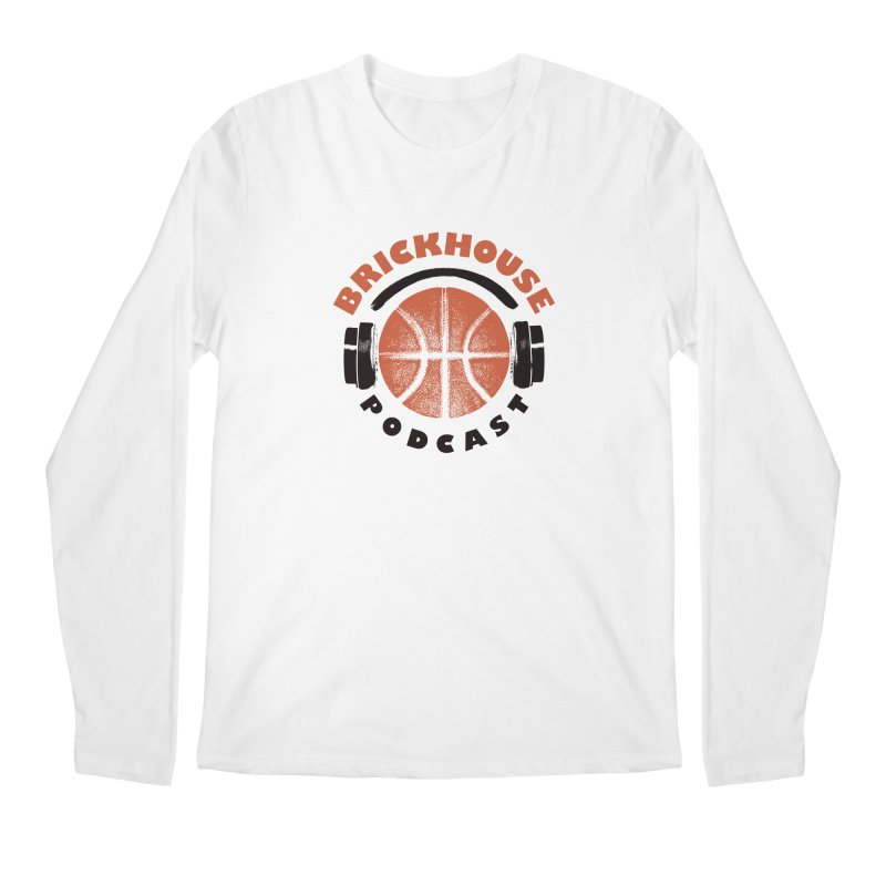 Brickhouse Podcast Logo Apparel (Pumped) Orange/Black Men's Regular Longsleeve T-Shirt by Brickhouse Podcast Shop