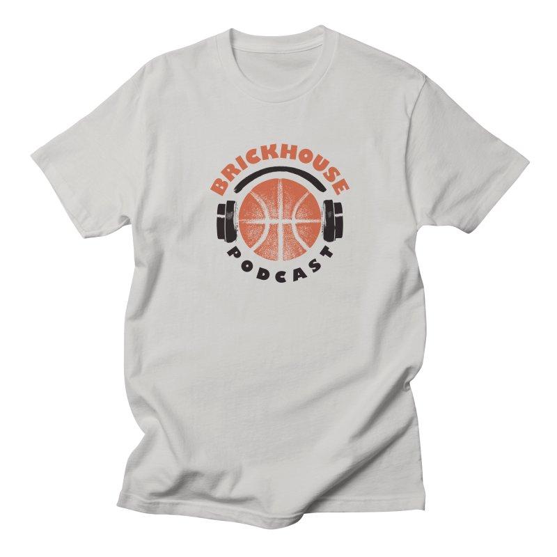 Brickhouse Podcast Logo Apparel (Pumped) Orange/Black Men's Regular T-Shirt by Brickhouse Podcast Shop