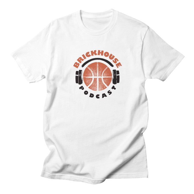 Brickhouse Podcast Logo Apparel (Pumped) Orange/Black Men's Regular T-Shirt by Brickhouse Podcast Shop