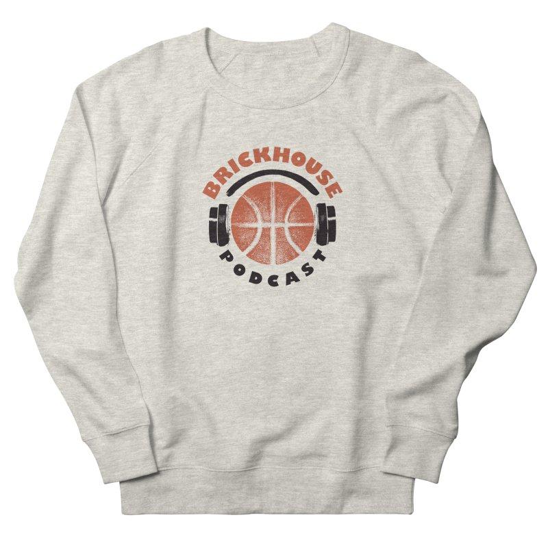Brickhouse Podcast Logo Apparel (Pumped) Orange/Black Women's French Terry Sweatshirt by Brickhouse Podcast Shop