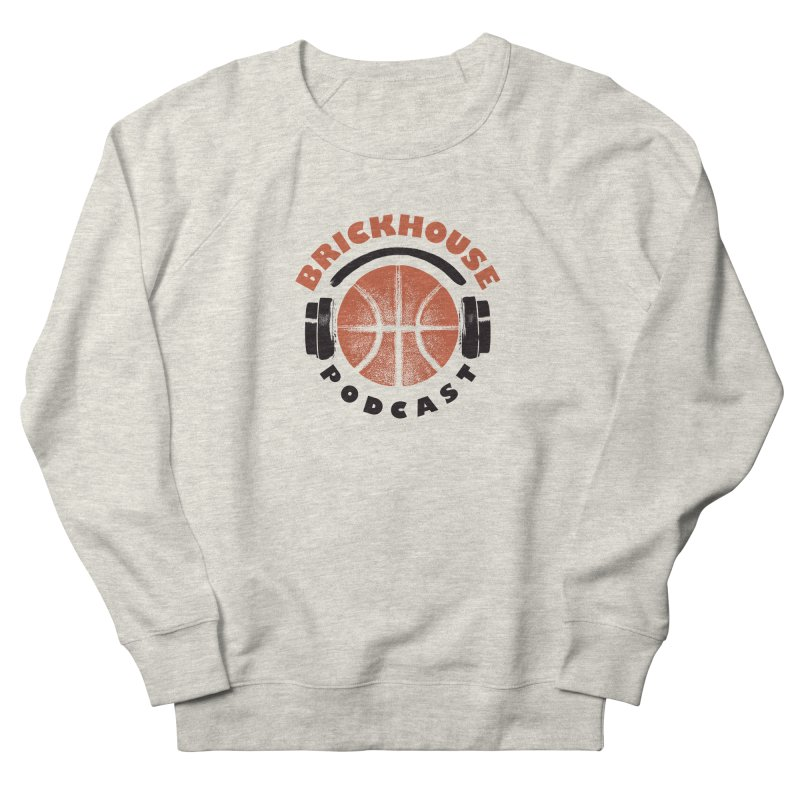 Brickhouse Podcast Logo Apparel (Pumped) Orange/Black Men's French Terry Sweatshirt by Brickhouse Podcast Shop