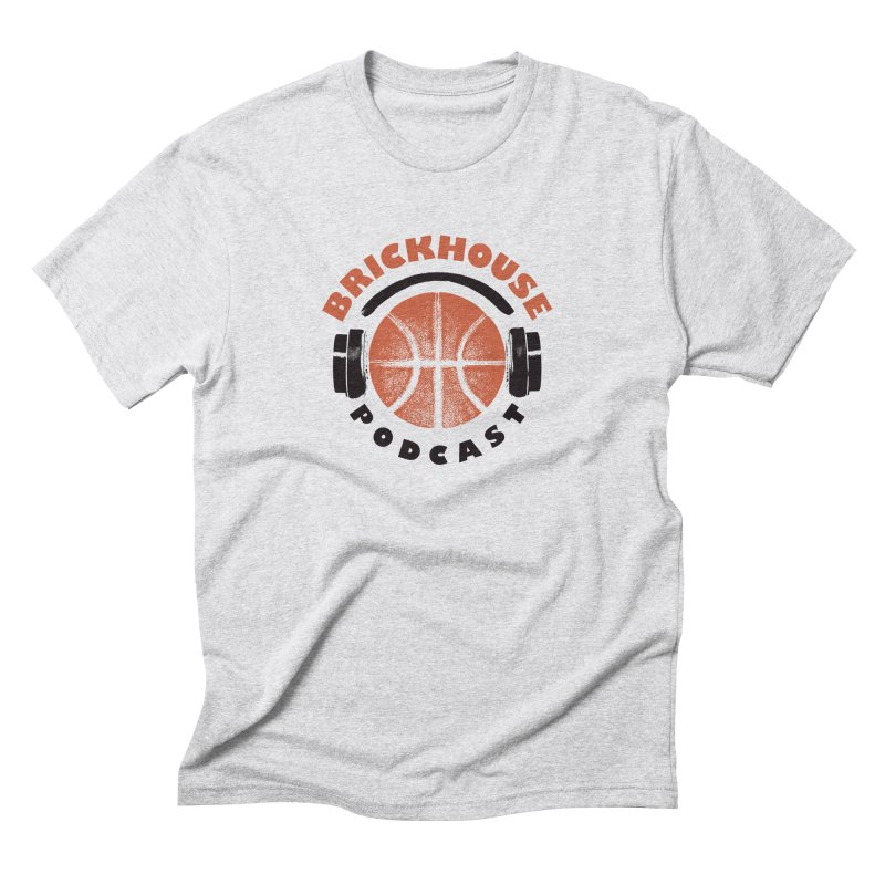 Brickhouse Podcast Logo Apparel (Pumped) Orange/Black Men's Triblend T-Shirt by Brickhouse Podcast Shop