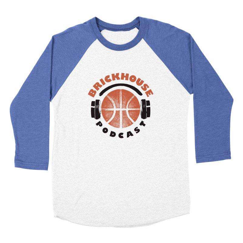 Brickhouse Podcast Logo Apparel (Pumped) Orange/Black Women's Baseball Triblend Longsleeve T-Shirt by Brickhouse Podcast Shop