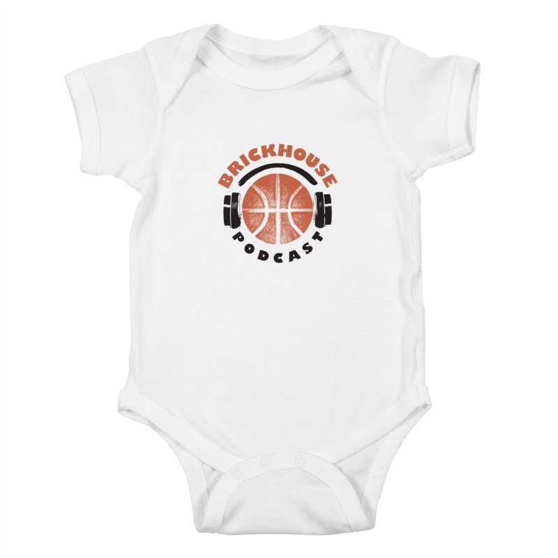 Brickhouse Podcast Logo Apparel (Pumped) Orange/Black Kids Baby Bodysuit by Brickhouse Podcast Shop
