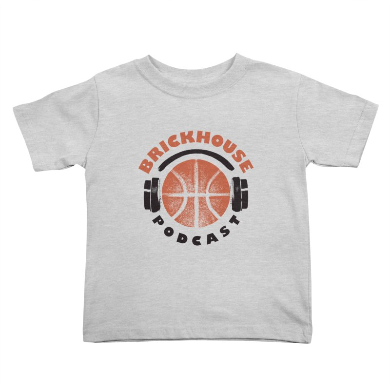 Brickhouse Podcast Logo Apparel (Pumped) Orange/Black Kids Toddler T-Shirt by Brickhouse Podcast Shop