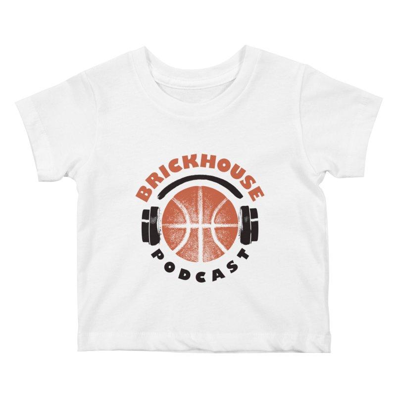 Brickhouse Podcast Logo Apparel (Pumped) Orange/Black Kids Baby T-Shirt by Brickhouse Podcast Shop