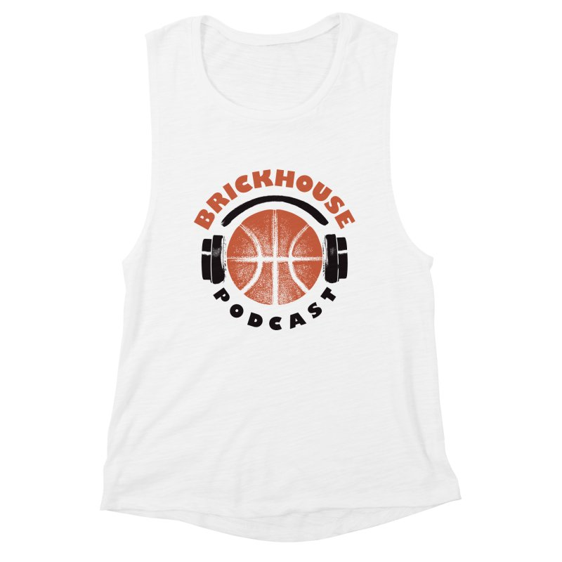 Brickhouse Podcast Logo Apparel (Pumped) Orange/Black Women's Tank by Brickhouse Podcast Shop