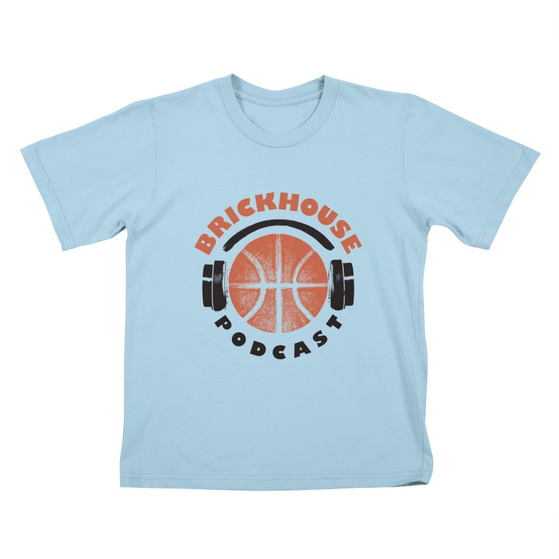 Brickhouse Podcast Logo Apparel (Pumped) Orange/Black Kids T-Shirt by Brickhouse Podcast Shop