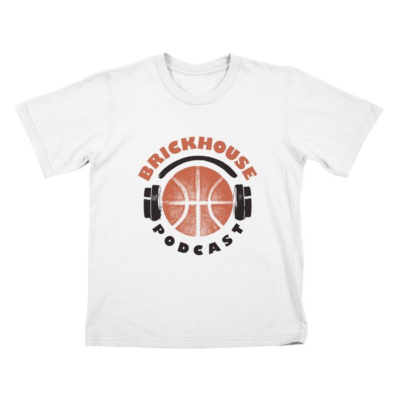 Brickhouse Podcast Logo Apparel (Pumped) Orange/Black Kids T-Shirt by Brickhouse Podcast Shop