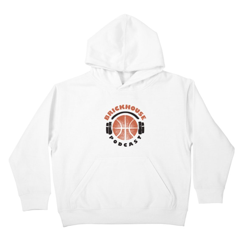 Brickhouse Podcast Logo Apparel (Pumped) Orange/Black Kids Pullover Hoody by Brickhouse Podcast Shop