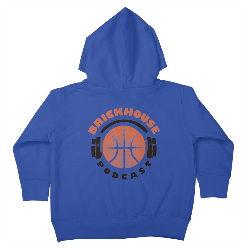 Brickhouse Podcast Logo Apparel (Pumped) Orange/Black Kids Toddler Zip-Up Hoody by Brickhouse Podcast Shop