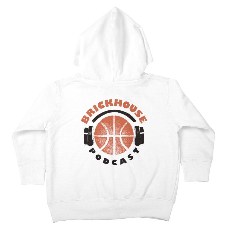 Brickhouse Podcast Logo Apparel (Pumped) Orange/Black Kids Toddler Zip-Up Hoody by Brickhouse Podcast Shop