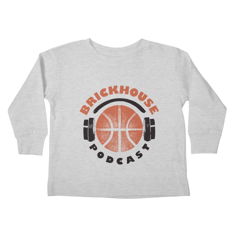 Brickhouse Podcast Logo Apparel (Pumped) Orange/Black Kids Toddler Longsleeve T-Shirt by Brickhouse Podcast Shop