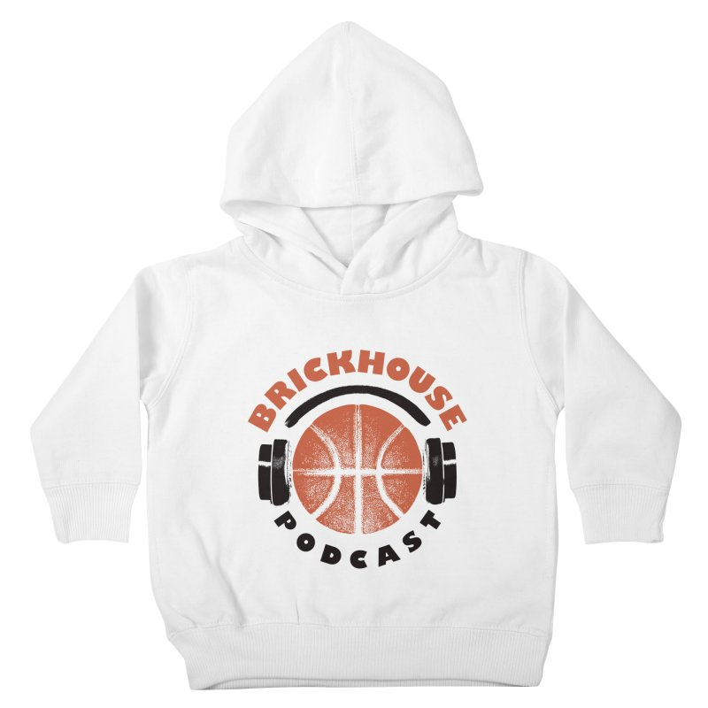 Brickhouse Podcast Logo Apparel (Pumped) Orange/Black Kids Toddler Pullover Hoody by Brickhouse Podcast Shop