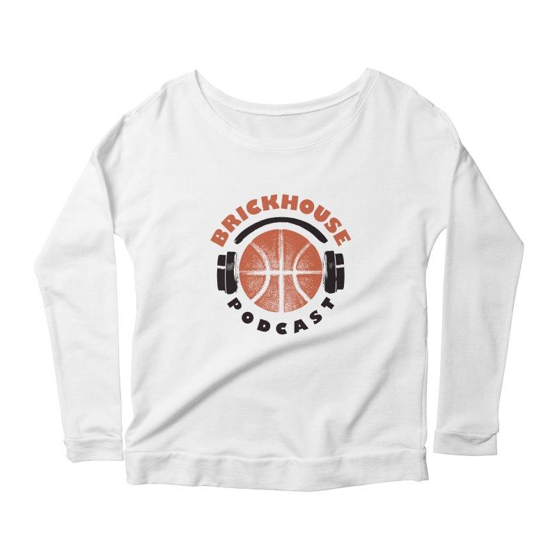 Brickhouse Podcast Logo Apparel (Pumped) Orange/Black Women's Scoop Neck Longsleeve T-Shirt by Brickhouse Podcast Shop