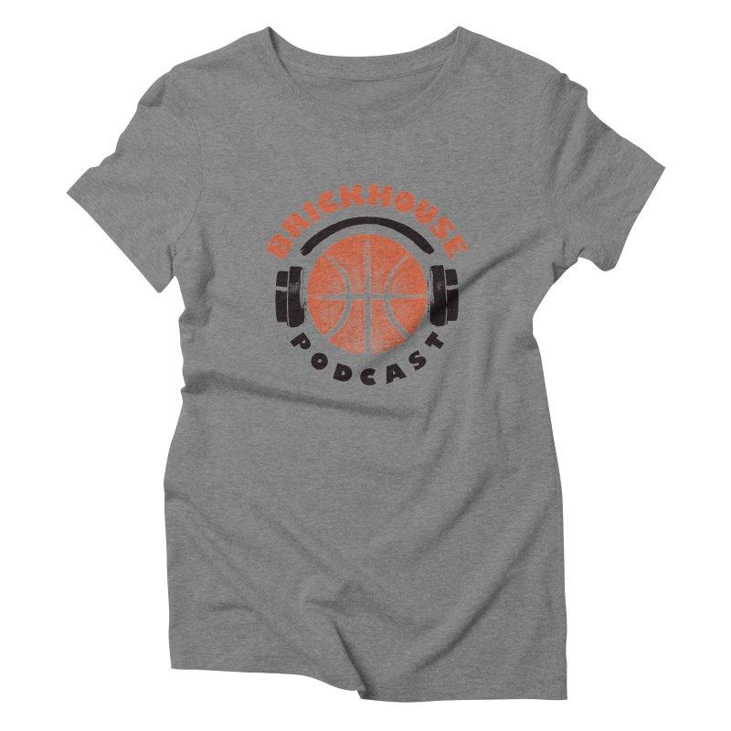 Brickhouse Podcast Logo Apparel (Pumped) Orange/Black Women's Triblend T-Shirt by Brickhouse Podcast Shop