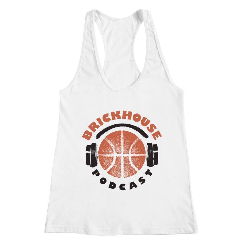 Brickhouse Podcast Logo Apparel (Pumped) Orange/Black Women's Racerback Tank by Brickhouse Podcast Shop