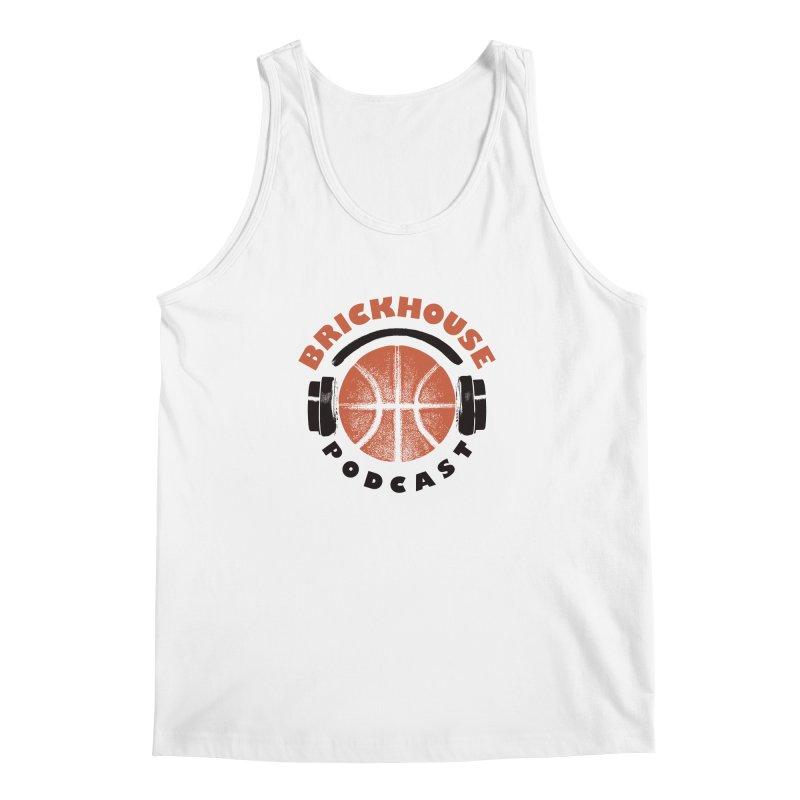 Brickhouse Podcast Logo Apparel (Pumped) Orange/Black Men's Regular Tank by Brickhouse Podcast Shop
