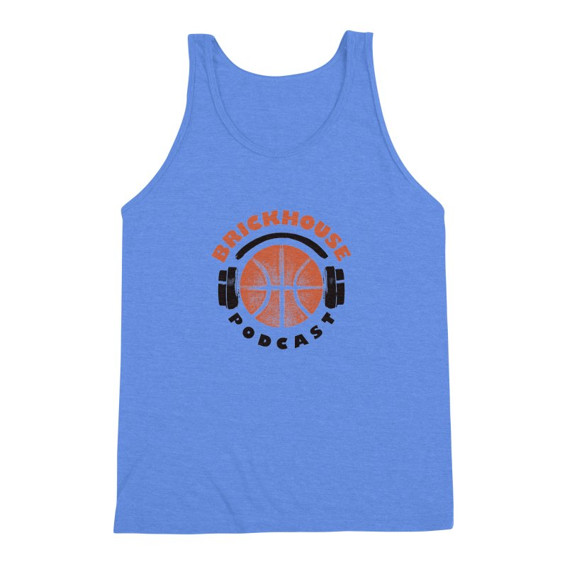 Brickhouse Podcast Logo Apparel (Pumped) Orange/Black Men's Triblend Tank by Brickhouse Podcast Shop